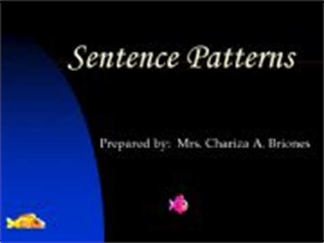 sentence pattern english grammar ppt esl english powerpoints basic sentence patterns