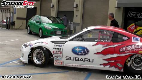 subaru racing decals esx subaru brz race car wrap by sticker city youtube