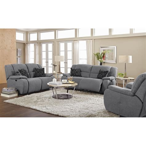 fortuna gray power reclining sofa furniture com