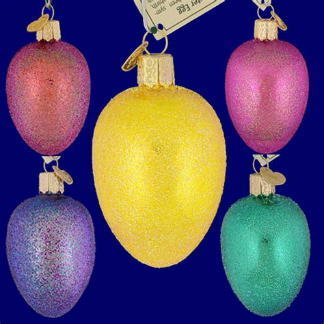 glass easter egg ornaments easter egg glass ornament by world your choice