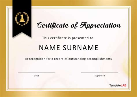 30 free certificate of appreciation templates free template downloads