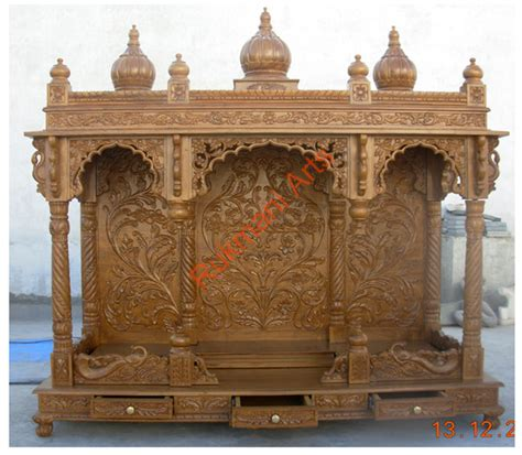 code 47 wooden carved teakwood temple mandir wooden