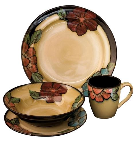country style food services fabulous floral country style 16 dinner set