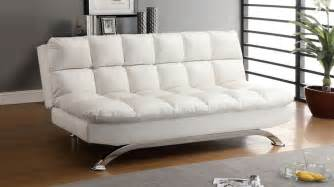 white futons white leather futon sofa bed comfy pillow top