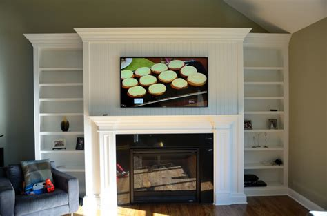 60 led tv installation fireplace home