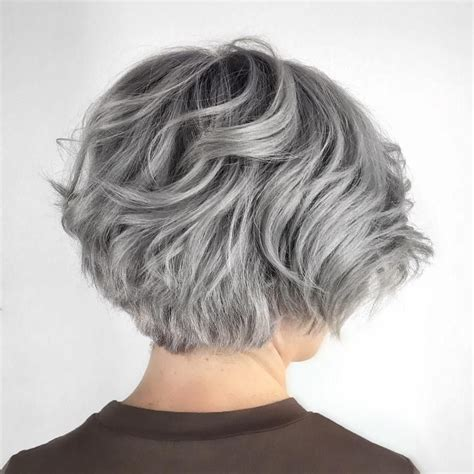 long bob low lights on silver hair 70 cute and easy to style short layered hairstyles