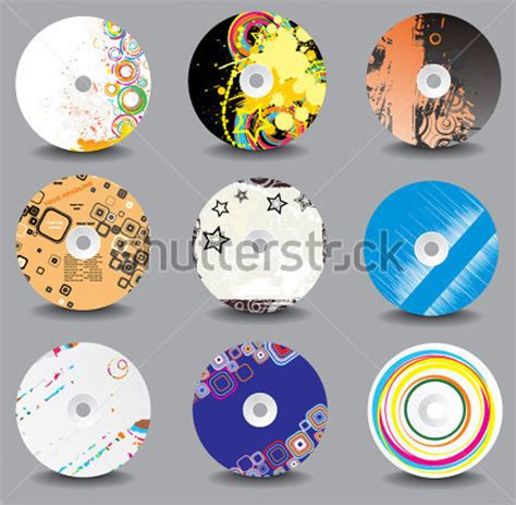 cd label template 20 free psd eps ai illustrator