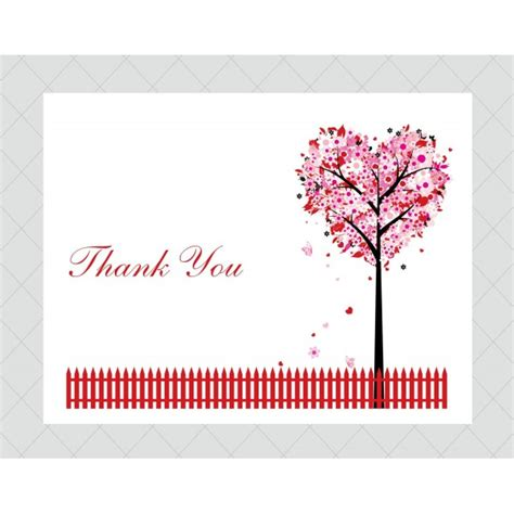 Thank You Card Template With Tree by Tree Card Thank You Modern Ideas Simple Creation