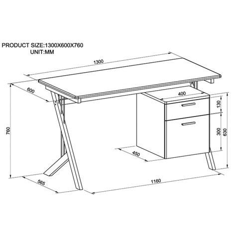 scrivania dimensioni scrivania per pc con due cassetti in acciaio e vetro