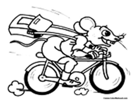 mouse motorcycle coloring page bike riding coloring pages