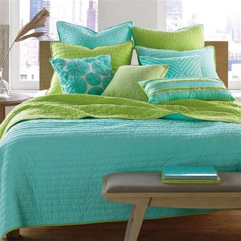 turquoise blue and lime green bedding sets sweetest slumber
