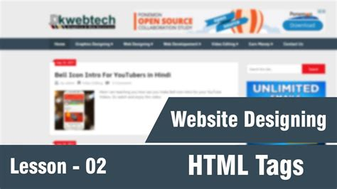 complete html tutorial youtube html tags complete web designing tutorials in hindi 02