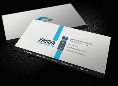 modern cards clean modern business card by glenngoh on deviantart