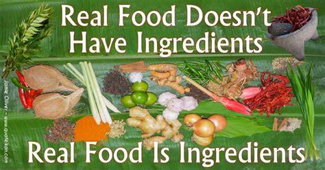 real food real food doesn t ingredients real food is ingredients