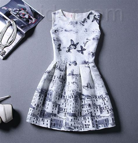 30510 The Retro Pattern S M L Xl Dress Retro Printing Patterns S Clothing Sleeveless