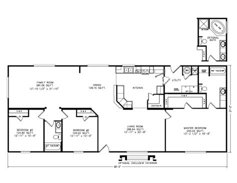 mountain view floor plans the mountain view i 4g28683b manufactured home floor plan