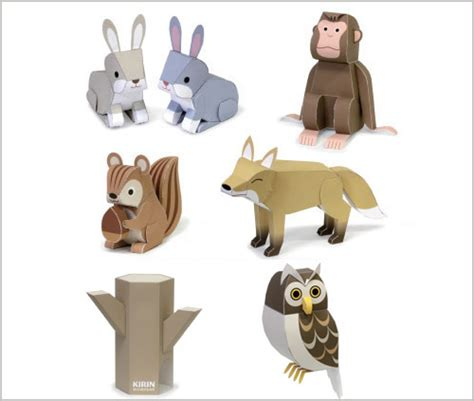 Animal Paper Craft - 3d animals paper craft myideasbedroom