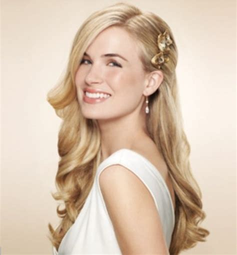 One Side Hairstyles Accessories by One Side Clipped Back Wedding Hair One Side Pulled Back
