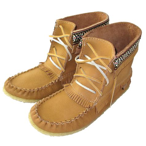 s moosehide leather moccasin boots from leather shoes
