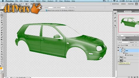 adobe photoshop changing the vehicle color