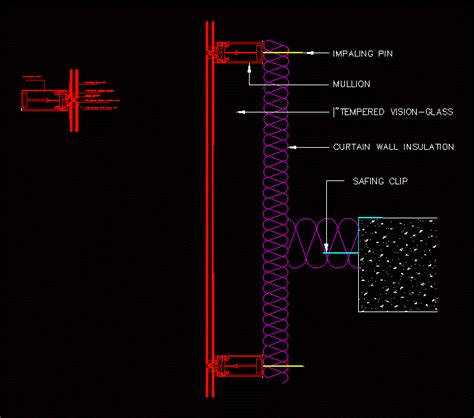 curtain wall dwg detail  autocad designs cad