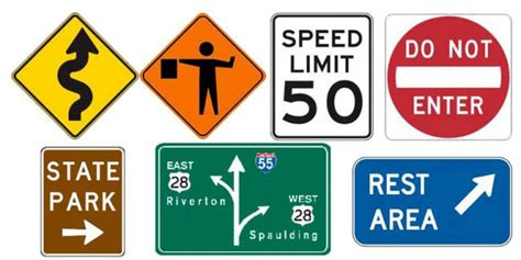 road sign colors what are the basic colors of u s road signs