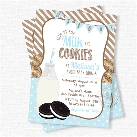 Cookie Baby Shower Invitations by Milk And Cookies Invitation Milk And Cookies Baby Shower