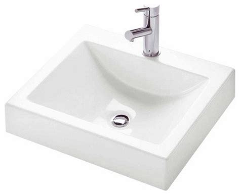 Modern Above Counter Bathroom Sinks Neptune Zen Square Above Counter Sink Modern