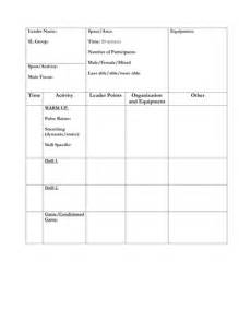 sport leader session plan template by uk teaching