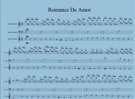 tutorial guitar romance de amor romance de amor partitur musik klasik