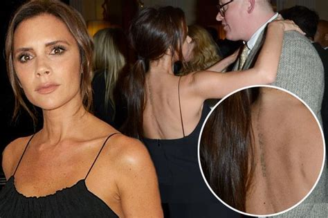 victoria beckham s tattoo on her back victoria beckham hits back at marriage trouble rumours