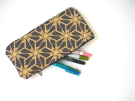 Outer Kimono Outer Motif Murah 22 geometric pattern large pencil makeup bag made with