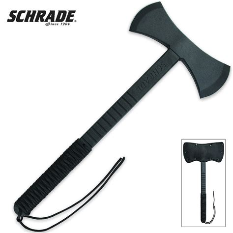 paracord axe schrade headed axe with paracord wrapped handle