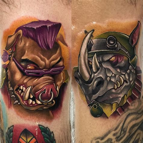 rocksteady tattoo bebop and rocksteady tattoos best ideas gallery