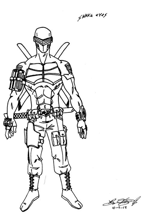 snake eyes coloring pages gi joe free coloring pages