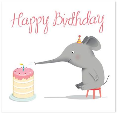printable birthday cards elephant pinterest the world s catalog of ideas