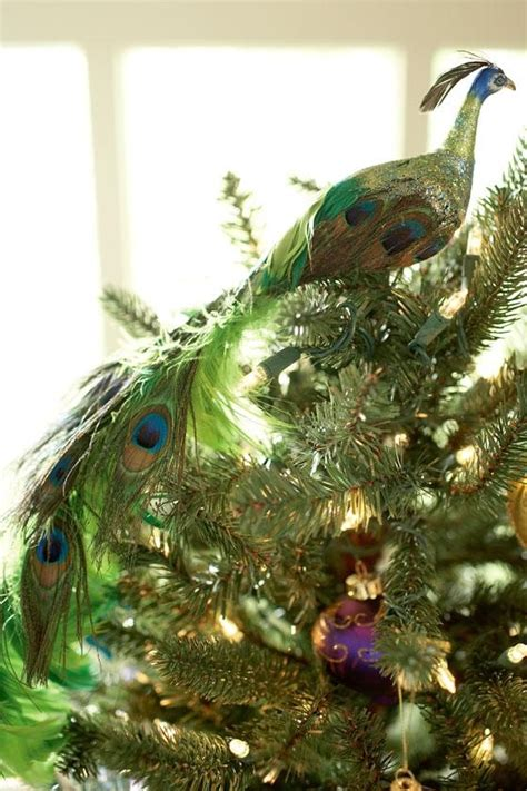 peacock tree topper peacock christmas pinterest