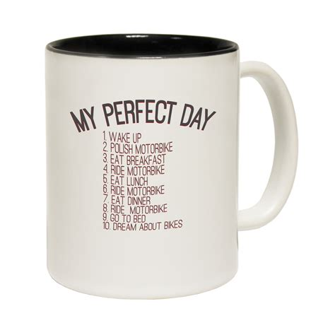 Funny Mug | funny mugs my perfect day motorbike joke gift christmas present novelty mug ebay