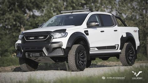 ford ranger m sport creates muscly raptor like ford ranger for europe