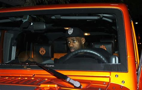 lebron jeep lebron s jeep wrangler lebron s orange jeep