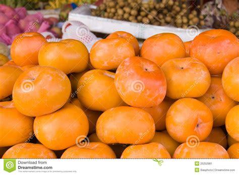 Keset Kaki Printing Fruits Berkualitas persimmon fruit in a cambodian market stock image image 25252981