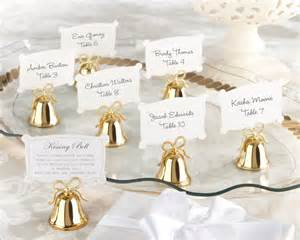 And Gold Wedding Favors by Gold Bell Place Card Holders Set Of 24