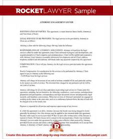 attorney engagement letter for law firm client