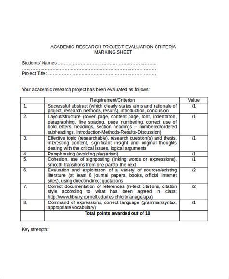 Project Evaluation Form Template project evaluation template 7 free word pdf documents