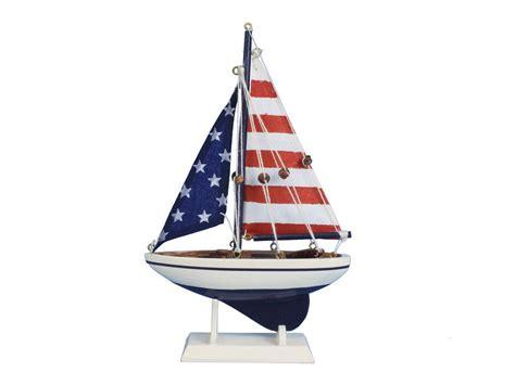toy boat decoration buy wooden usa flag sailer model sailboat decoration 9