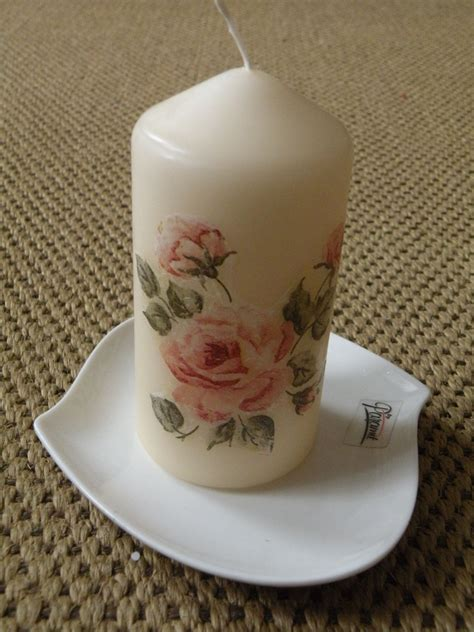 decoupage candele decoupage candle by lenka decoupage candles and stones