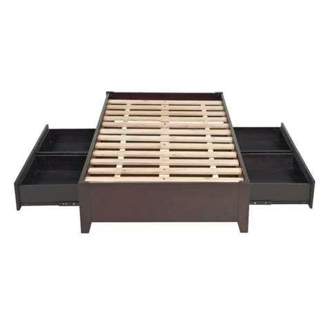 simple platform bed modus simple platform storage bed in espresso sp23dx