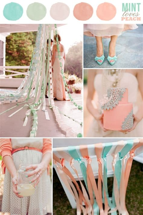 peach and green colour owambe wedding color combination mint loves peach mint green