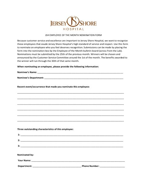 nomination certificate template employee of the month nomination form new jersey free