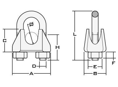 cable acier 1945 serre cables 192 etrier en acier inox a4 fixations de